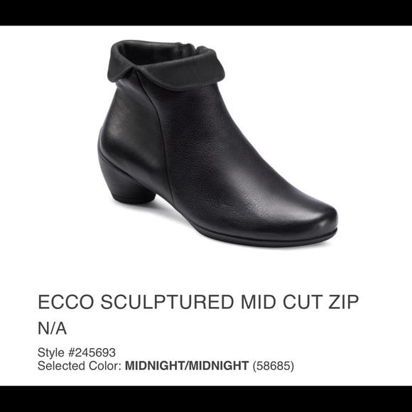 845b52a2c1cb9 Ecco Shoes   On Sale Sculptured Mid Cit Zip Bootie   Poshmark